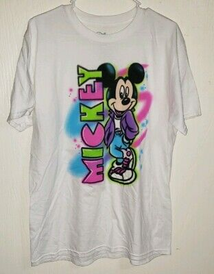 f68c6f91 Large Mickey Mouse Graphic Airbrush T Shirt Pre-owned Mint Condition Disney