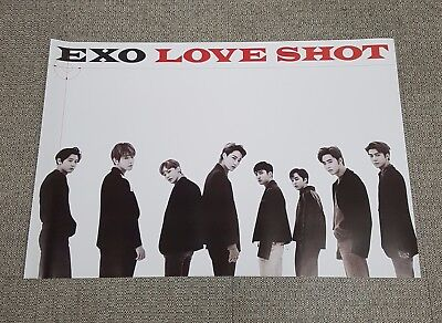 K-POP EXO 5th Repackage Album [LOVE SHOT] A Ver. OFFICIAL POSTER -NEW-