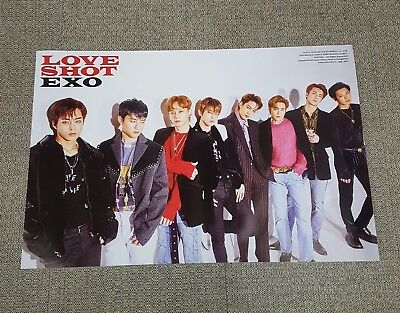 K-POP EXO 5th Repackage Album [LOVE SHOT] C Ver. OFFICIAL POSTER -NEW-