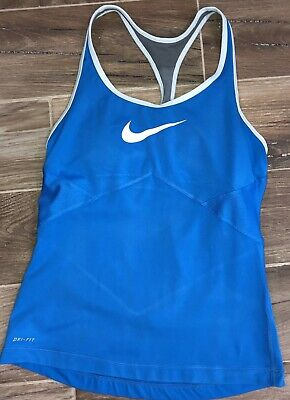 67a258c2d707b NIKE DRI FIT Tennis Tank Top Built In Support White Womens M -  5.99 ...