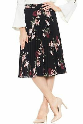 90041d49e Vince Camuto NEW Pink Womens Size 10 Floral-Printed Pleated Skirt $99 118