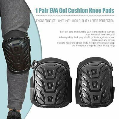 2X Gel Filled Knee Pads For Work Professional Gel Knee Pads+Adjustable Strap 0I