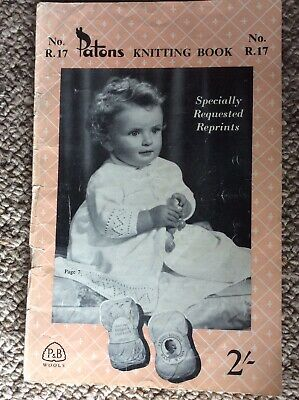 Vintage Patons Baby Knitting Pattern Book R. 17 Specially Requested Reprints