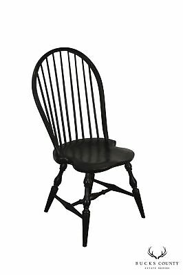 Distressed Finish Crackle Painted Windsor Side Chair