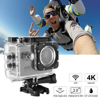 30M Waterproof Sport Camera 4K HD 1080P WiFi 170° Wide Angle DV Camcorder LF870