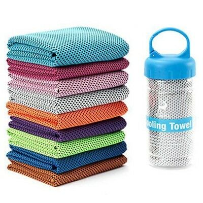 Instant Cooling Towel ICE Cold Cycling Jogging Gym Sports Outdoor Multicolor UK