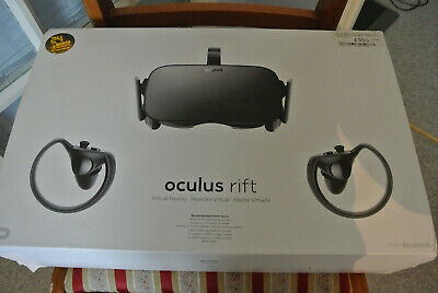 Occulus Rift VR Headset with 2 touch controllers & 2 Sensors in Box