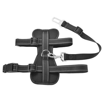Pet Safety Car Vehicle Dog Seat Belt Lead Air Mesh Harness Security Strap PS280