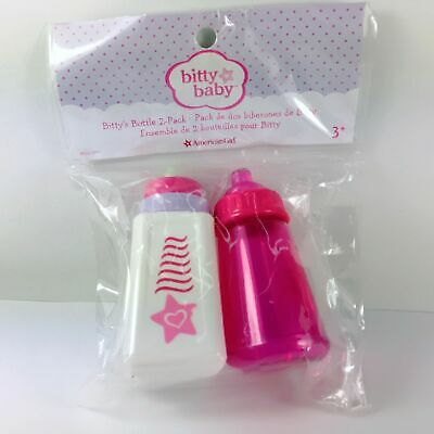 American Girl/bitty Baby's Bitty's 2-Pack Bottle Set. 1 For Milk & 1 For Water
