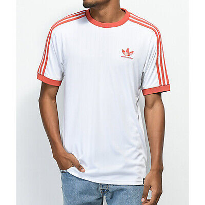 aabfc7f5 Adidas Skateboarding Clima Club Jersey Skate T-Shirt Tee White/Red XL NEW  NWT