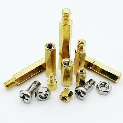 M2M2.5 M3 M4 Solid Brass Copper Hex Standoff Support Spacer Pillar for PCB Board