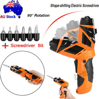 6V Battery Power Cordless Electric Screwdriver Gun Screw Driver DIY Hand Tool AU