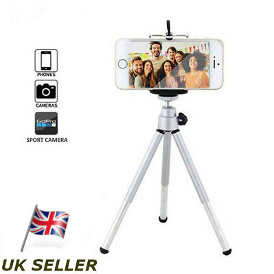 Tripod Stand Portable Holder Mount Mobile iPhone Android & Sports Camera - UK
