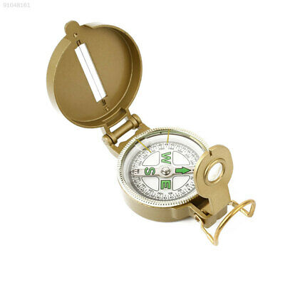 A227 Portable Mountaineering Camping Compass Ranging Tool Device Army Yellow