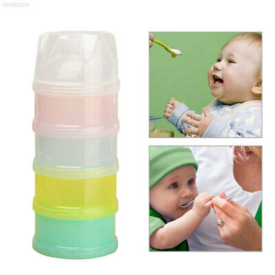 5BE9 4 Layers Milk Powder Dispenser Travel Kids Baby Infant Feeding Container*