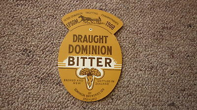 OLD 1960s NEW ZEALAND BEER LABEL, DOMINION BREWERY, DB DRAUGHT, INTERDOMINION
