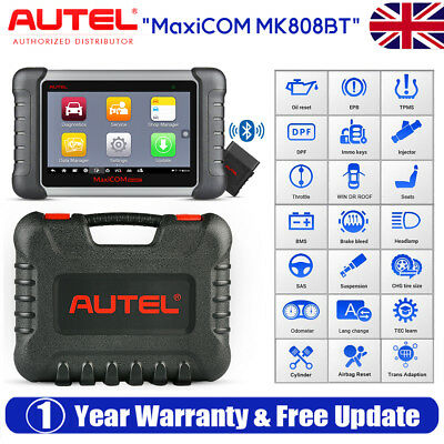 Autel MK808BT All System Diagnosis Scanner Tool OBDII Reader ABS SRS SAS EPB DPF