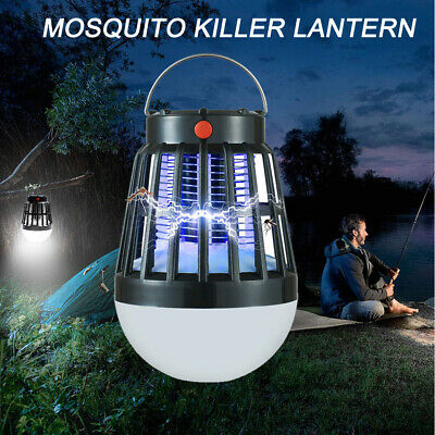Outdoor Camping Light Electric Mosquito Killer Lamp Solar/usb Pest Repeller