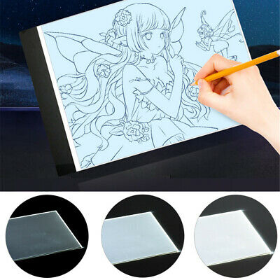 A4 LED Painting Tracing Board Copy Pad Panel Light Drawing Art Artcraft Stencil