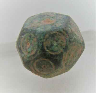 Authentic Byzantine Period Bronze Polygonal Solidus Weight. 28G