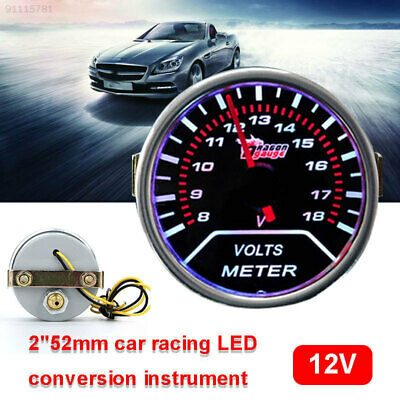 """363D Cars Modified Instrument Dashboard Red Pointer Motormeter 2""""52mm"""
