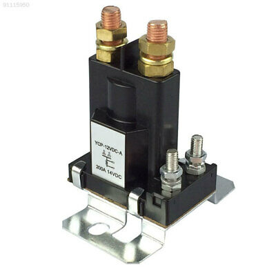 4A96 DC 12V Relay Battery Car 200A Contactor ABS Engineering Machinery Black