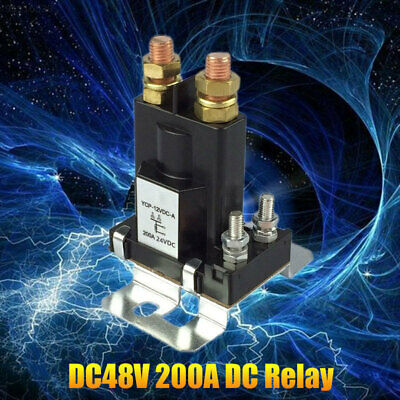537E 200A Relay Electric Vehicle DC 48V Direct Current Relay ABS Ship Black