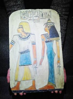 Egyptian Antiques Antiquities Princess Sedet and Nerb Stela Relief 4749-4557 Bc