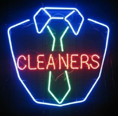 """New Laundry Cleaners Bar Poster Beer Light Lamp Neon Sign 17"""""""