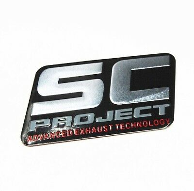 SC PROJECT Aluminium Exhaust Heat Proof Resistant Sticker Decal Motorcycle Bike
