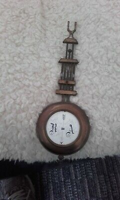 antique wall clock junghams pendleum weight adjustable