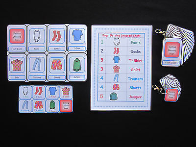 Getting Dressed Boys Cards -Autism/PECS/Dementia/Early Yrs/Self Help/Visual Aids