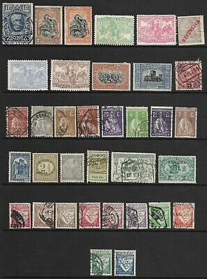 Sheet of Early Portugal Stamps, Unused and Used