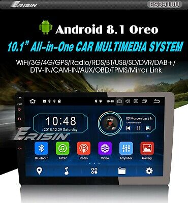ERISIN ES3910U ANDROID 8 1 1Din 10 Pollici Autoradio Universale Car Player  Gps