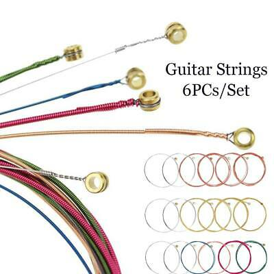 6x/Set Acoustic Classic Guitar Strings Bass/Copper/Colorful Replacement Kit Gift