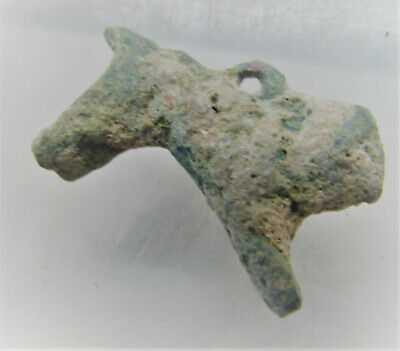 Scarce Circa 300-400Ad Roman Era Legionary Bronze Lion Pendant Wearable