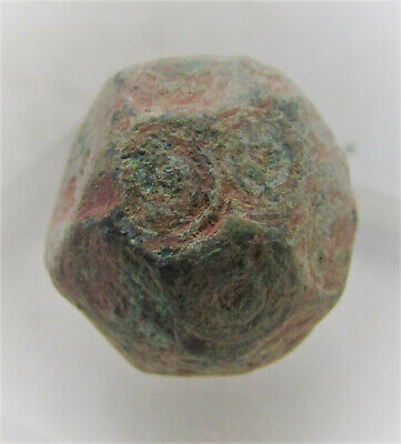 Byzantine Period Bronze Polygonal Solidus Weight. 28G. Needs Cleaning