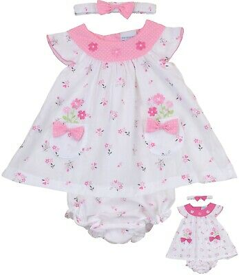 BabyPrem Baby Girls Pretty Pink Summer Dress Set Outfit 9-12 12-18 18-24 months