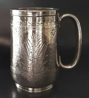 Antico Boccale Inciso In Argento 925 Sterling Silver Exeter 1877 Mug J. Williams