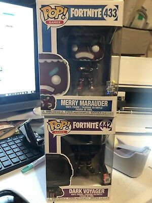Funko Pop Fortnite- dark voyager #442 & Merry Marauder #433, 442!!