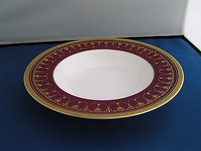 "Royal Worcester Imperial Red 8"" Rimmed Bowl."
