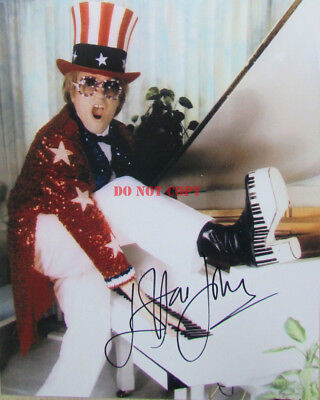 ELTON JOHN AND LADY GAGA SIGNED AUTOGRAPH 8x10 RP PHOTO LEGENDARY PERFORMERS