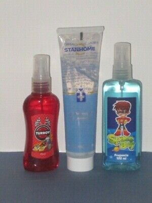 STANHOME FRAG BOYS SET X 3 (TURBOY EDT+ INSECT REP GEL 90 ml. + SPACE EDT) NEW