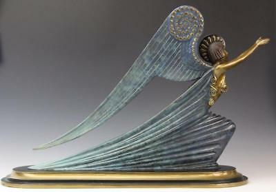 """Erte Bronze, """"angel"""" 1985 Signed And Numbered Retail- $18,000 Look At My Store"""