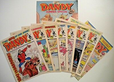 THE DANDY Comics x 9 Issues