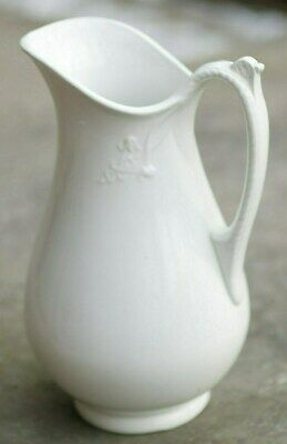 """T & R Boote English White Ironstone 13"""" Waterloo Water Pitcher 1890's"""