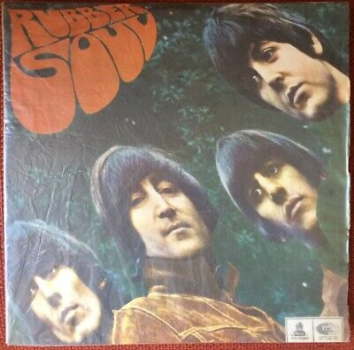 """The Beatles-Chile First Press """"rubber Soul"""" 1966 Red Wine Labels"""