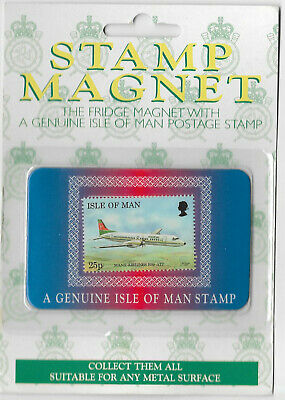 Isle of Man Aircraft Stamp Magnet Manx Airlines BAp ATP issued in 1997