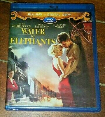 Water for Elephants (Blu-ray Disc, 2011) Reese Witherspoon/Robert Pattinson!