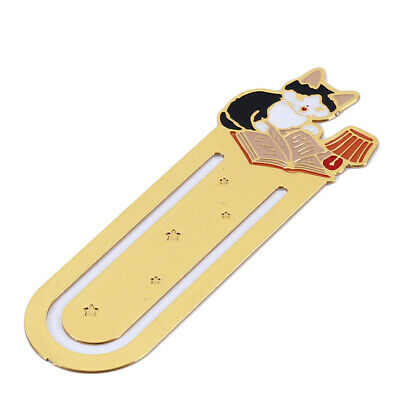 Cat Bookmark Metal Book Page Marker Bookmark School Office Supplies shan